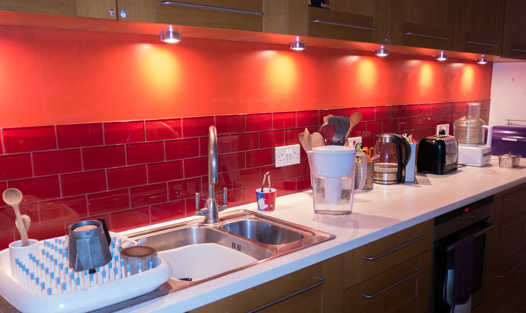 Friday February 13th (2015) new glass tile splashback