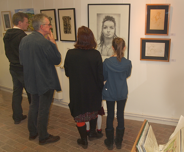 Friday October 19th (2012) eastbourne life drawing group private view
