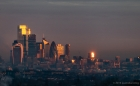 dawn over london